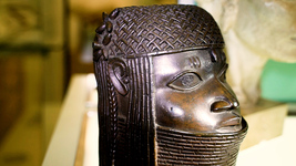 [Photo of a Benin Bronze Head of an Oba]